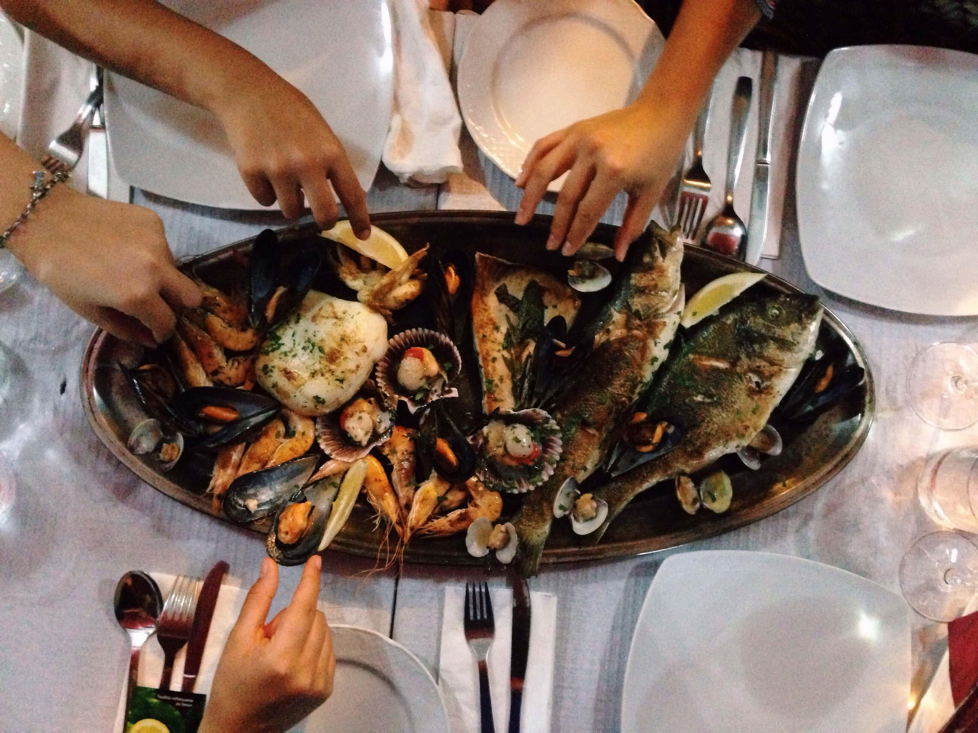 Parrillada de pescado y mariscos (para 2 pers.)