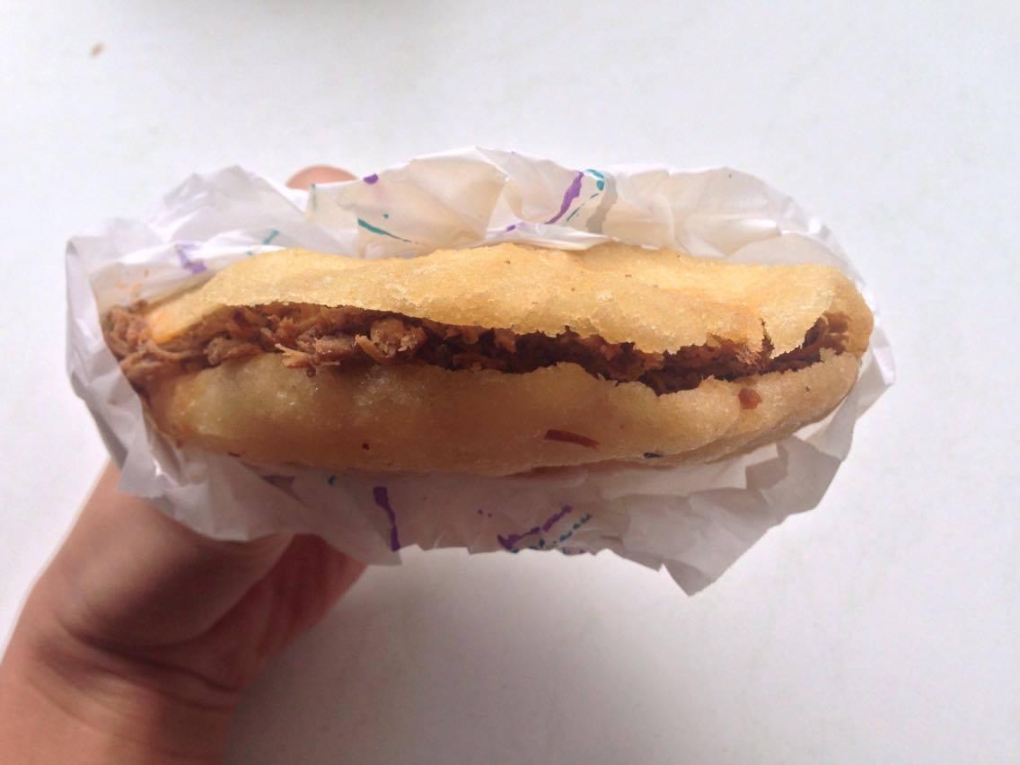 Arepa Carne Mechada