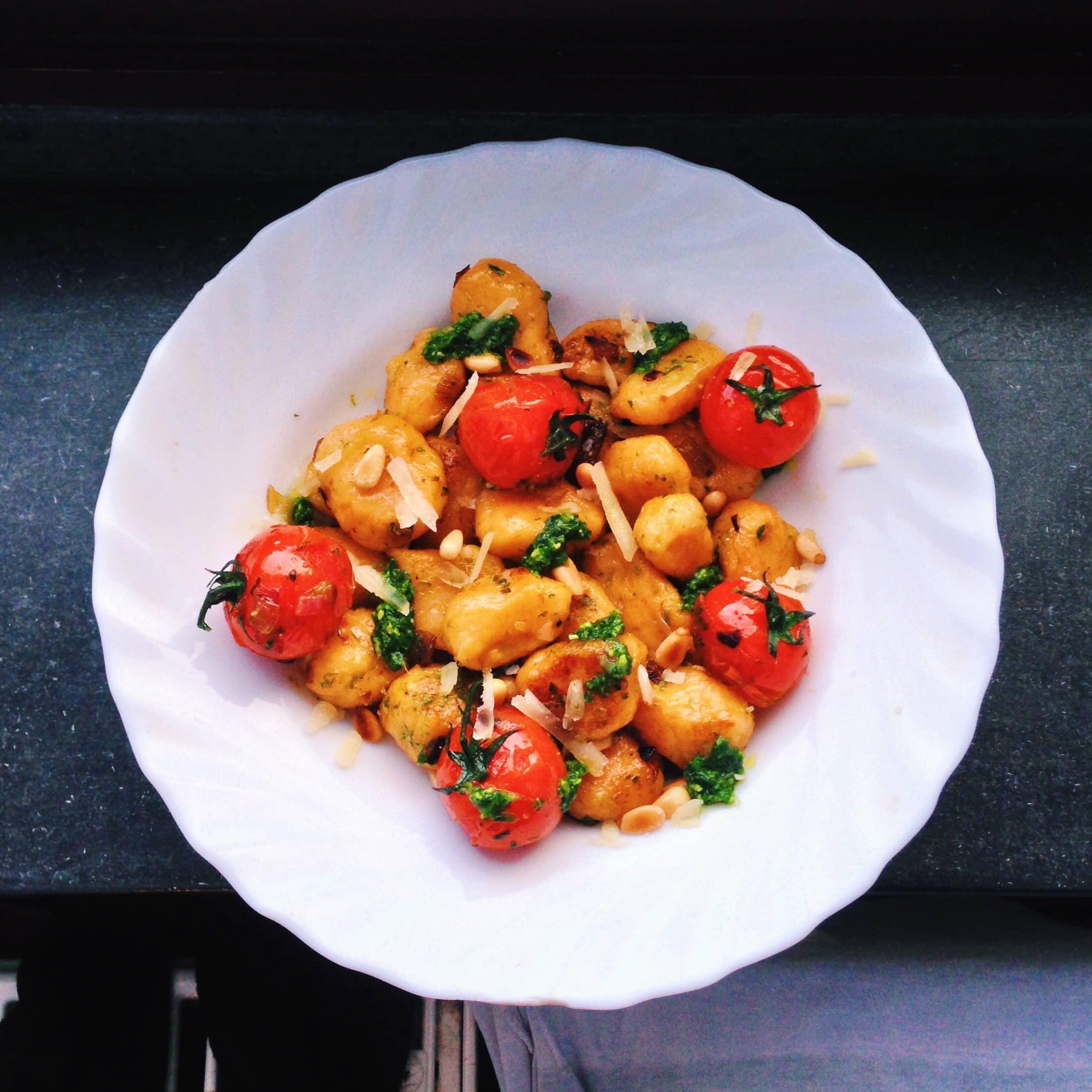 Suesskartoffel Gnocchi & Baerlauchpesto