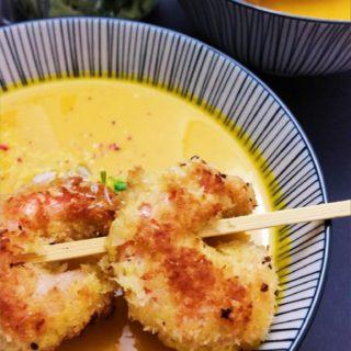 Asiatische Kuerbissuppe
