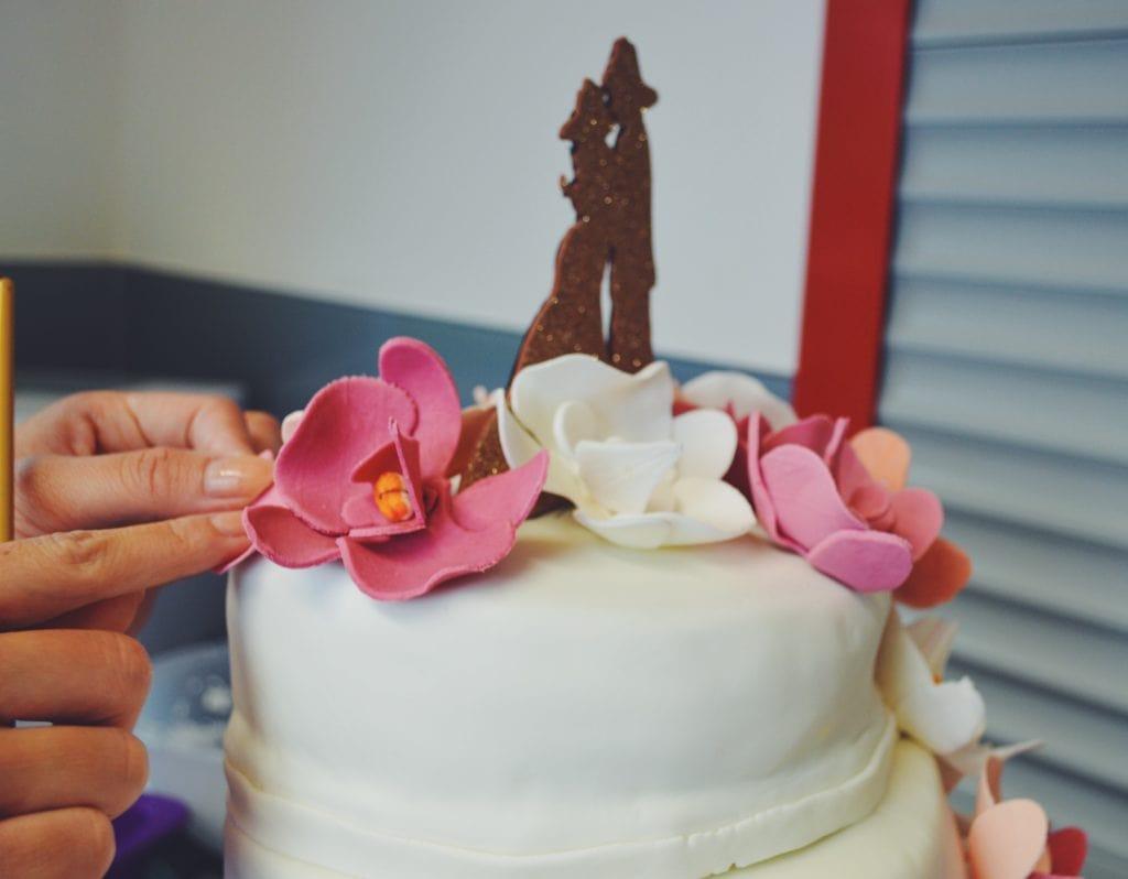 selbstgemachte Hochzeitstorte