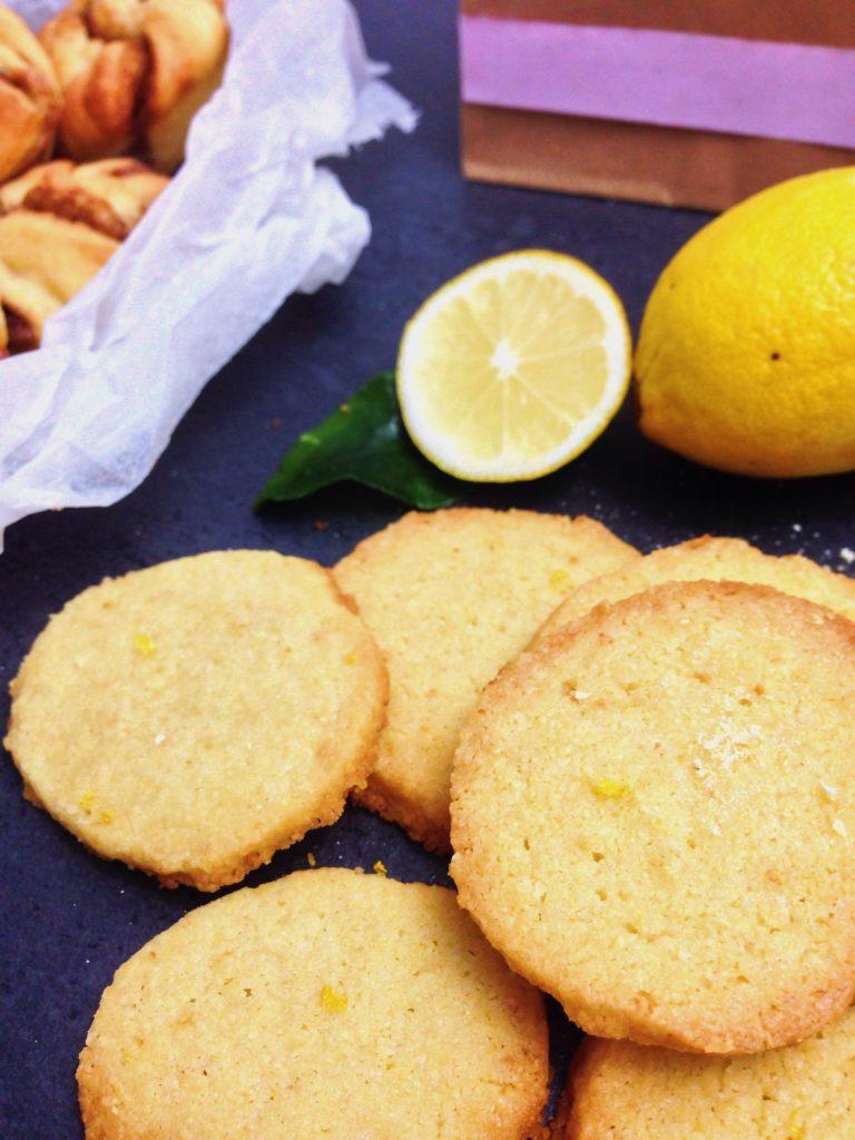 Mandel Zitronen Shortbread