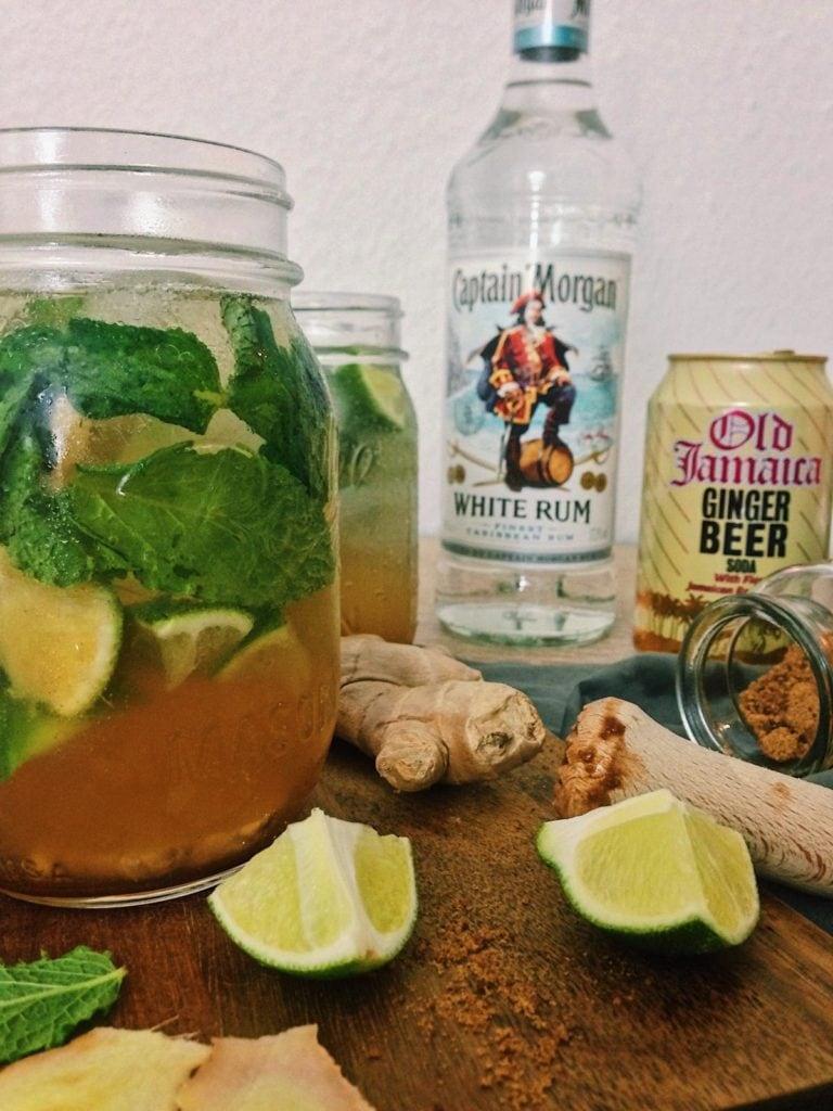 fructosearmer Ingwer-Mojito