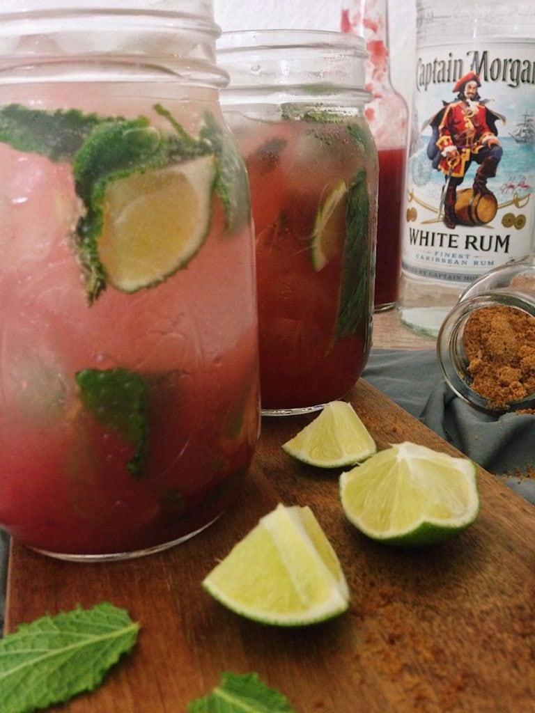 fructosearmer Rhabarber-Mojito