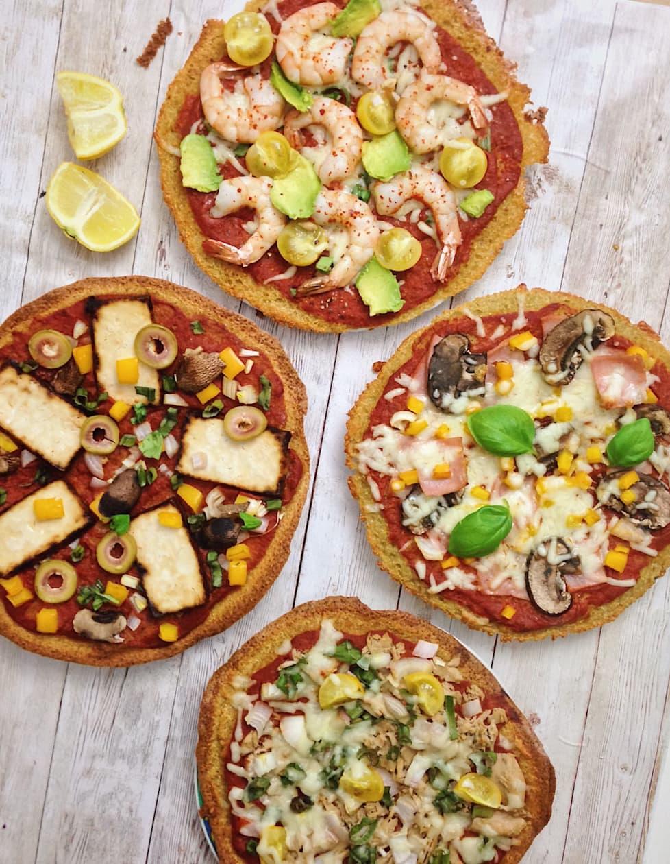 Einfache Low Carb Pizza mit Quinoa + fixe Tomatensoße - Mimi & Rose