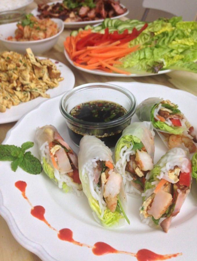Vietnamesische Sommerrollen - fructosearmes Rezept